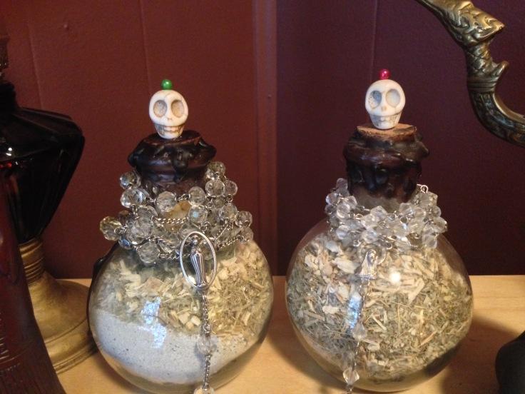 Mom and Grandma Spirit Bottles