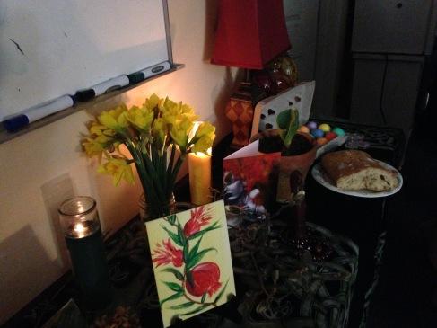 Reclaiming Pittsburgh Spring Equinox Altar